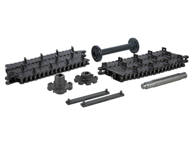 verschleissteile_lattenrost Wear- and Spare Parts for Road Paving Finishers